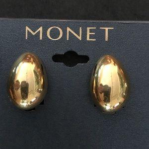 Monet goldtone clip earrings